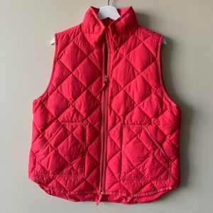 J. Crew | Quilted Puffer Vest | Coral | Size XL